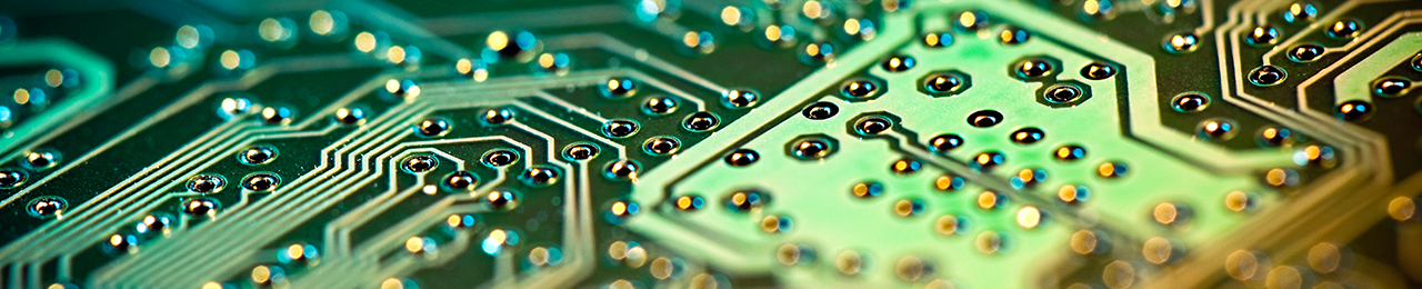 Header image of the green surface of a circuit board