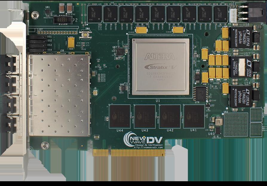 V5031 Quad Channel 10 Gigabit Ethernet FPGA PCI Express Card