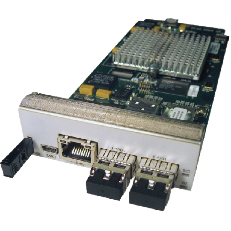 The front of a V3021 FPGA card