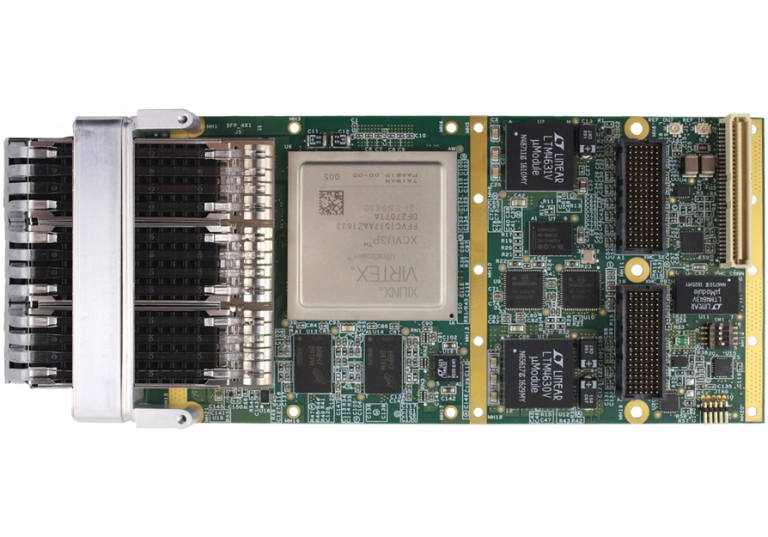 V1152 Triple Channel 10/25/40/100 Gigabit FPGA XMC Card