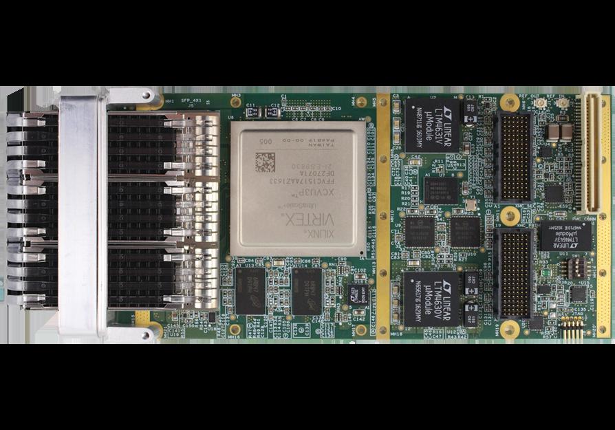 V1152 Triple Channel 10/25/40/100 Gigabit FPGA XMC Card