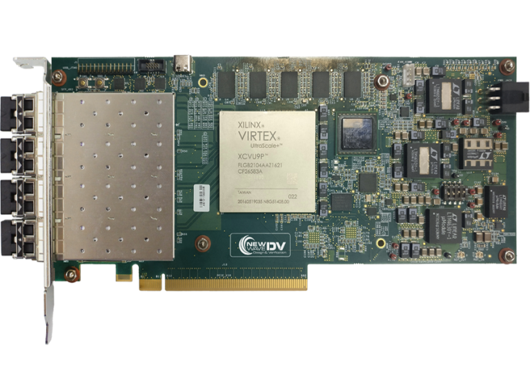 V5051 Quad Channel 10/25 Gigabit FPGA PCI Express Card