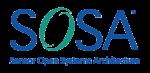 A blue Sensor Open Systems Architecture logo